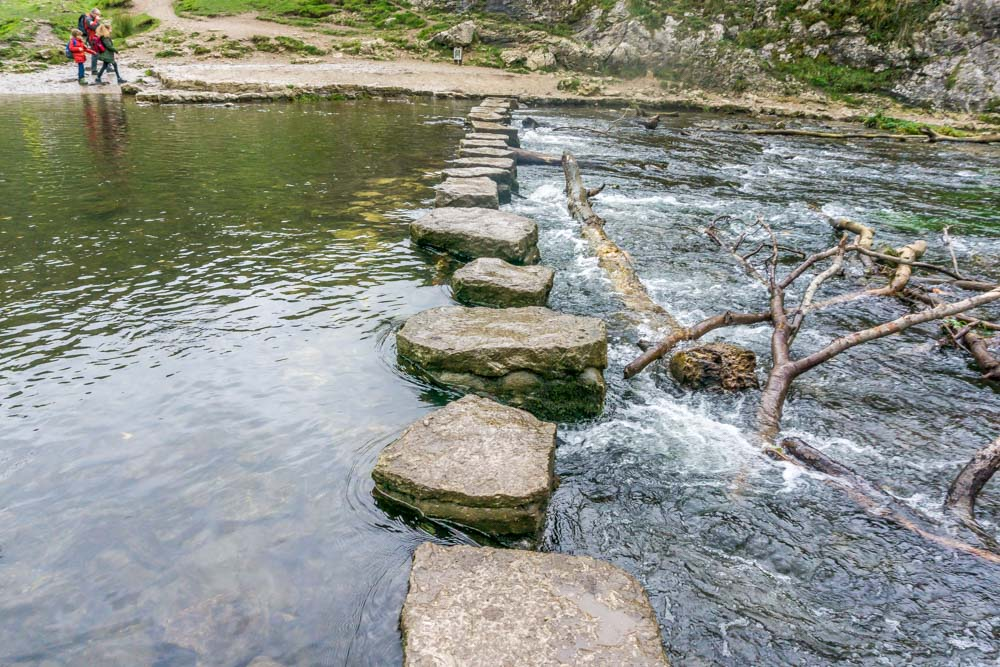 stepping-stones Exploring Dovedale - Caves, Limestone Spires, Riverside Walking