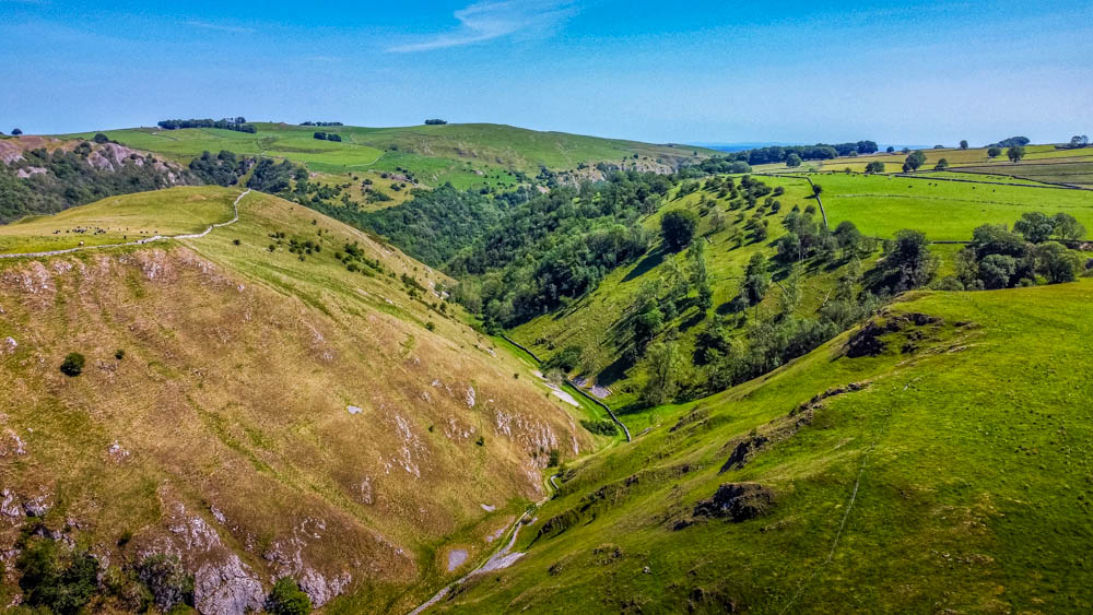 looking down dovedale