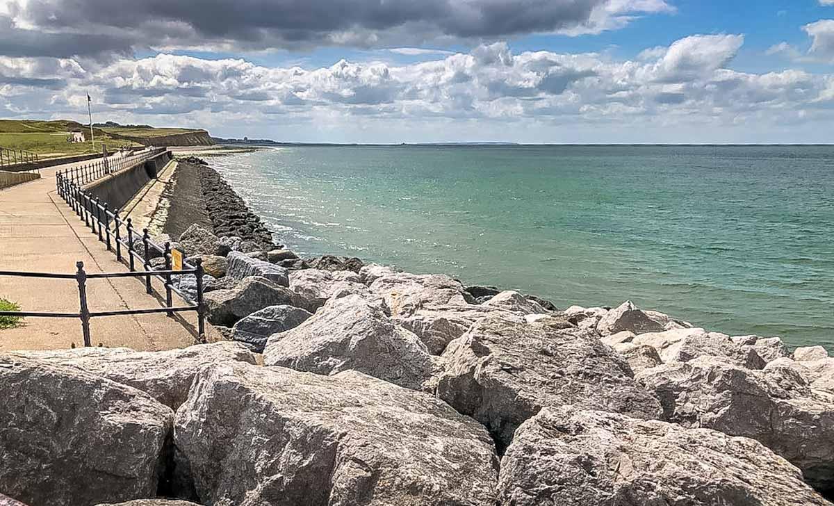 sea wall in kent