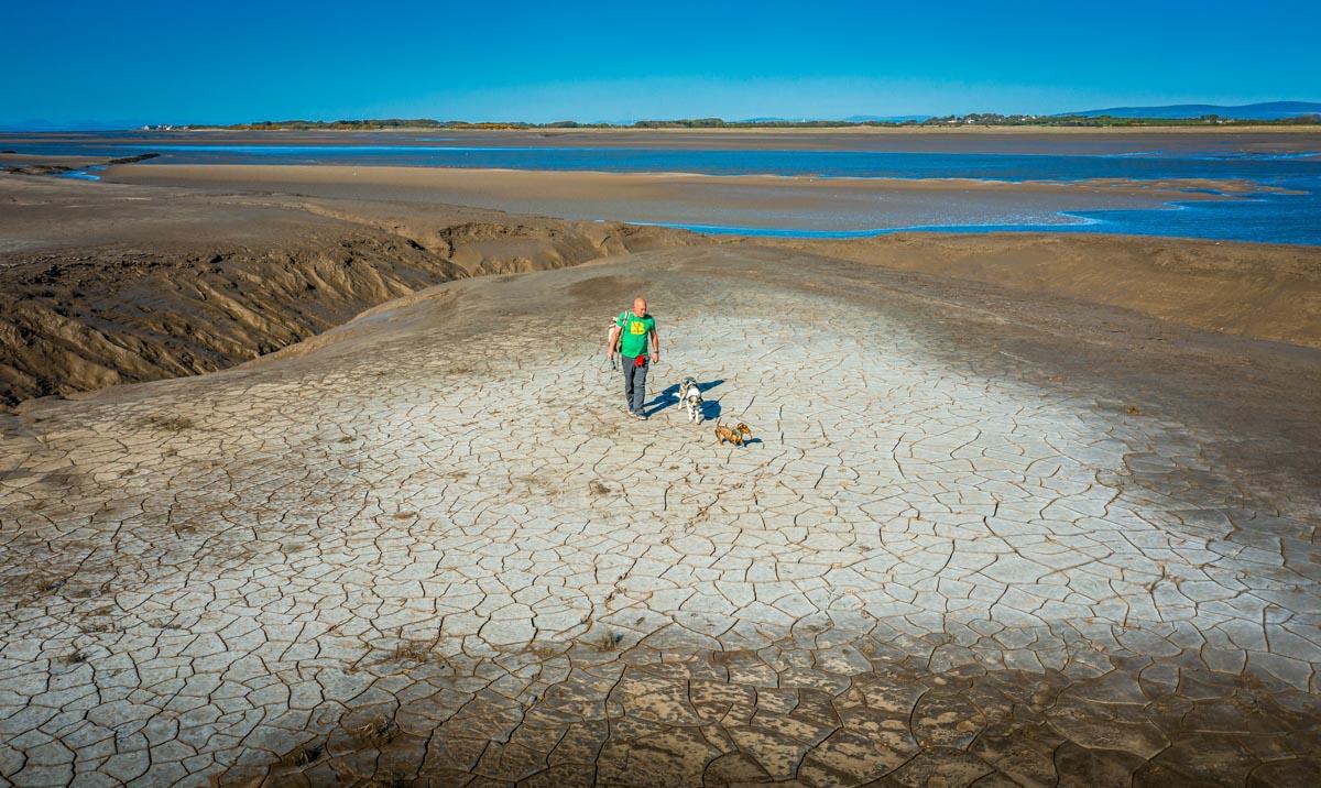 mud-flats-dry Walks Along The Wyre Estuary of Lancashire