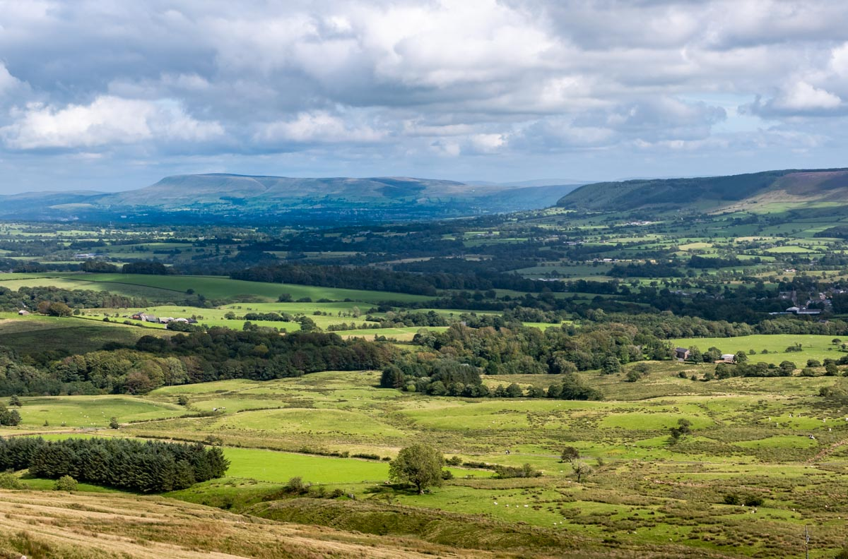 looking over to pendle hill