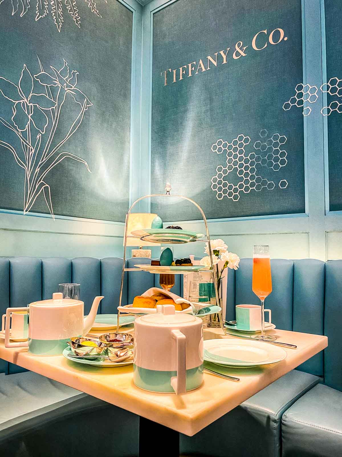 the-setting Afternoon Tea at Tiffany's Blue Box Cafe, Harrods