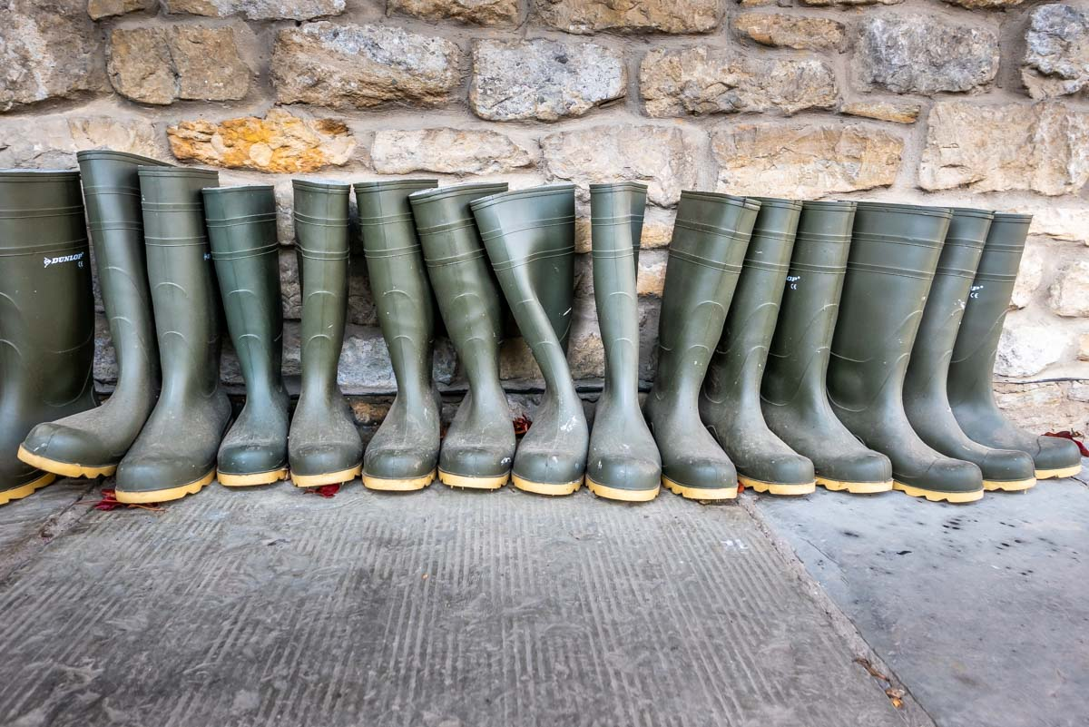 wellies for your walks provided