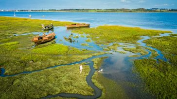 wyre estuary overhead view