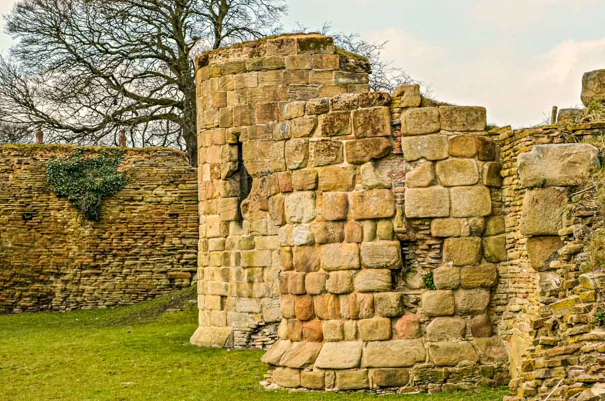 remaining wall of ruins