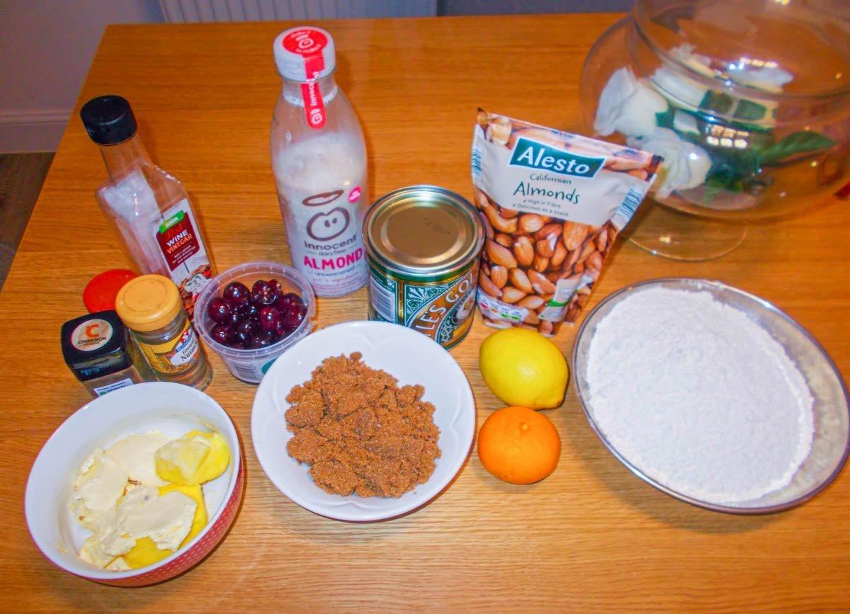 vegan-xmas-ingredients Vegan Christmas Cake Recipe