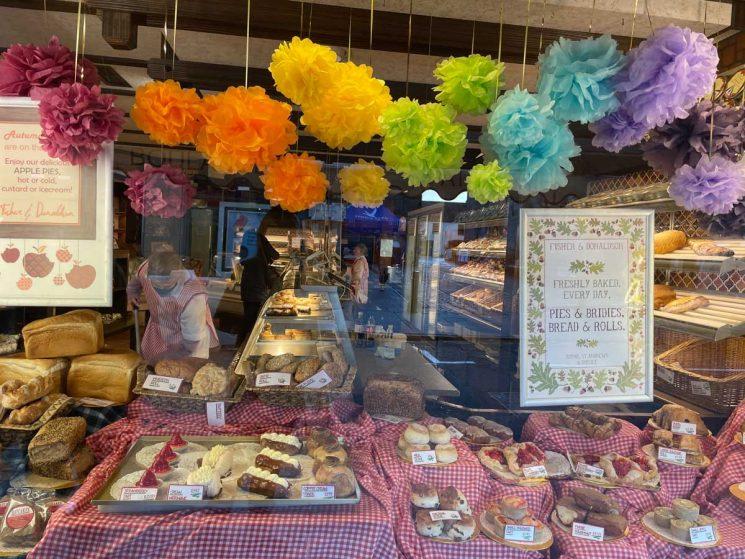 cake shop window