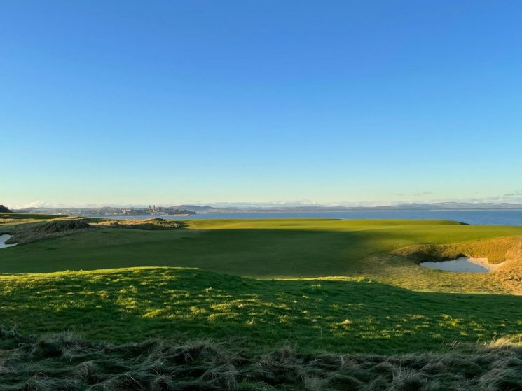 golf course and the sea