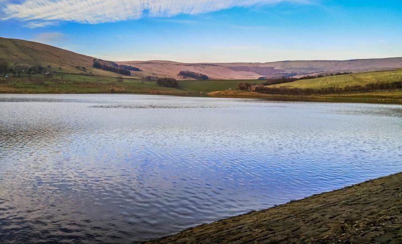 reservoir at castleshaw