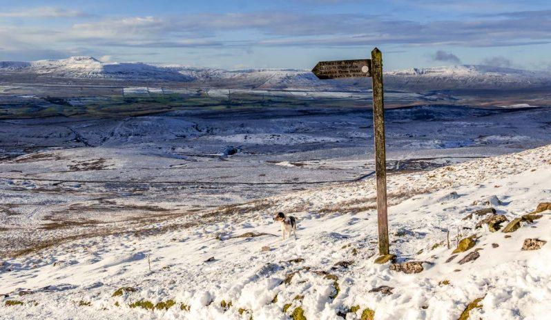 yorkshire three peaks in distance
