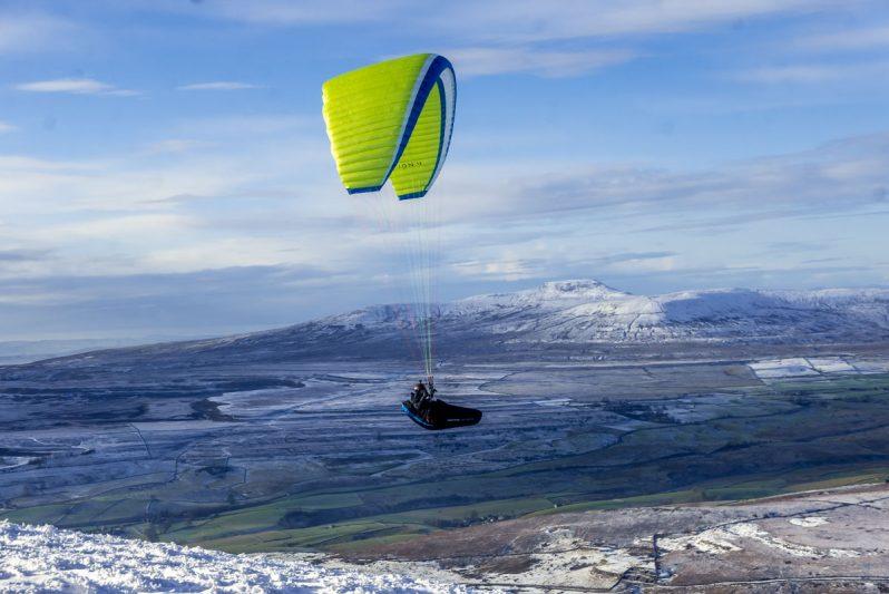 paraglider on Pen-y-ghent