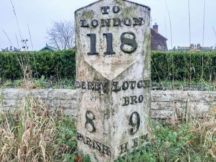 old canal mileage post
