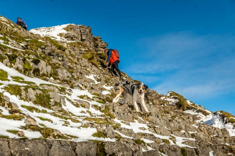 icy scramble on pen-y-ghent