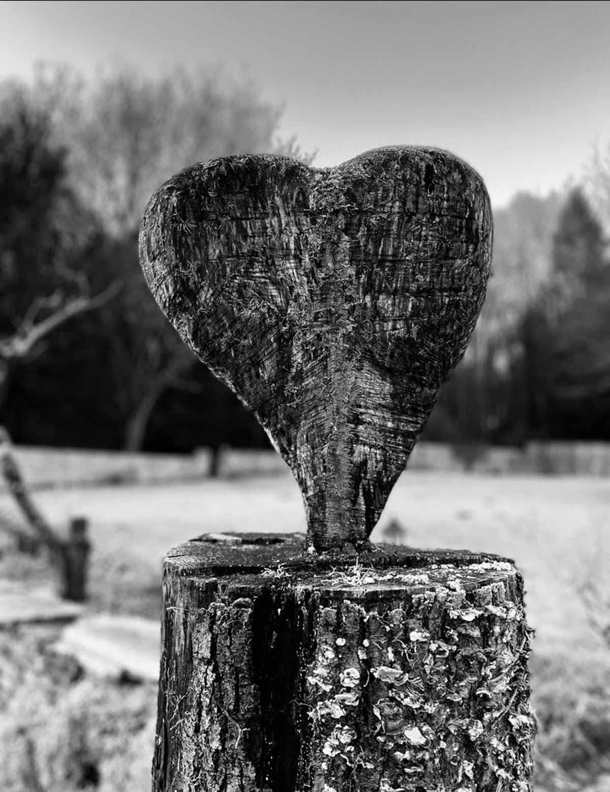 heart sculpture in the grounds