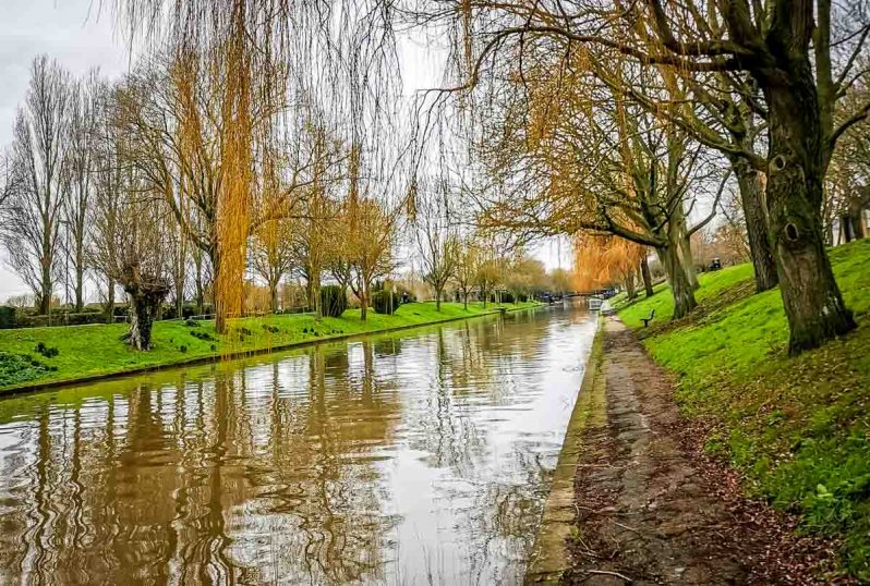 A Walk Along The Royal Military Canal At Hythe