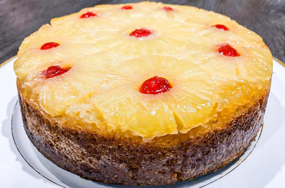 Pineapple Upside Down Cake With A Boozy Twist
