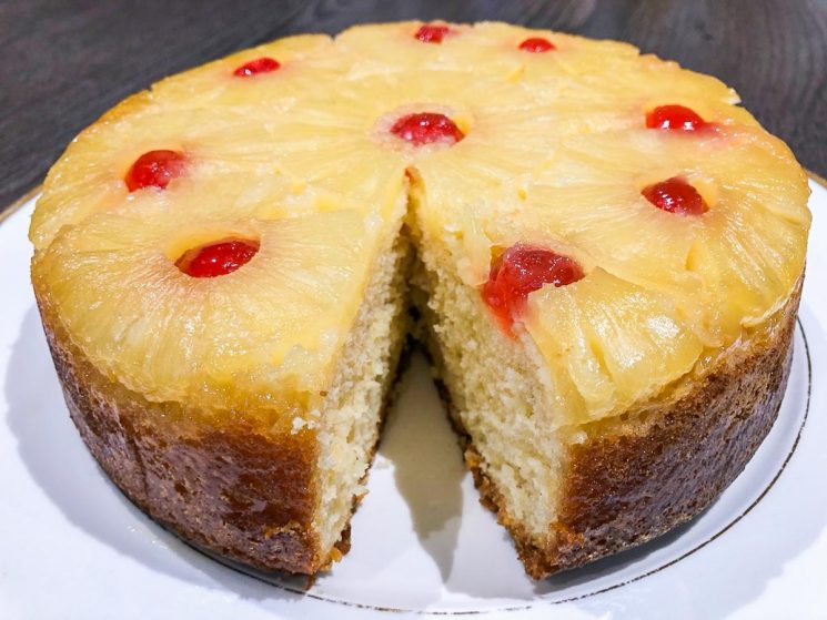pineapple upside down cake finished