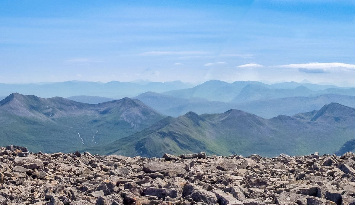 panoramic view from Ben Nevis