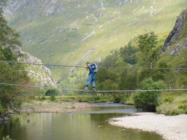 crossing the River Nevis