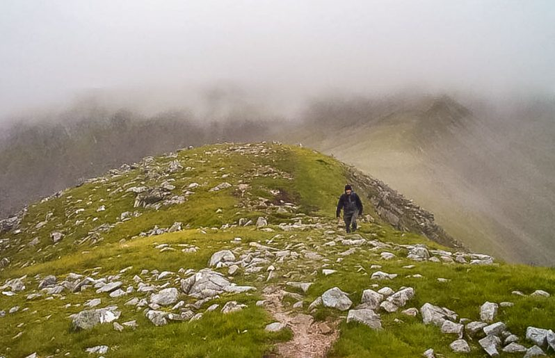 way up to Stob Coire