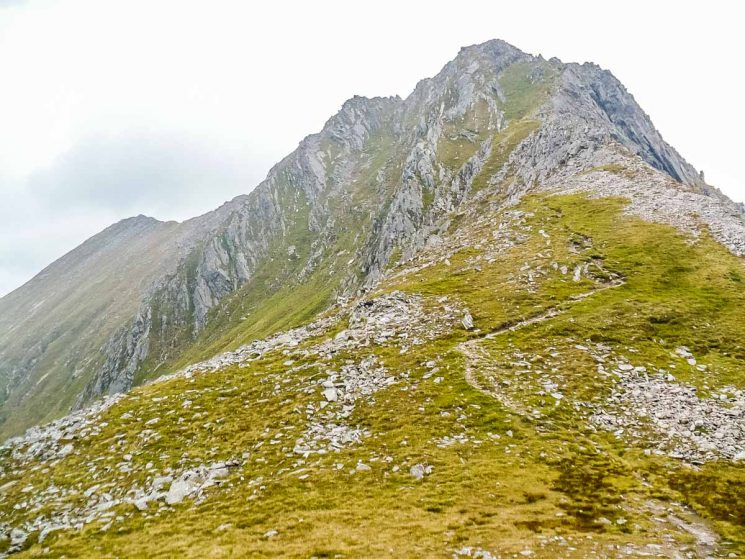 looking back up to Ab Geaaranach