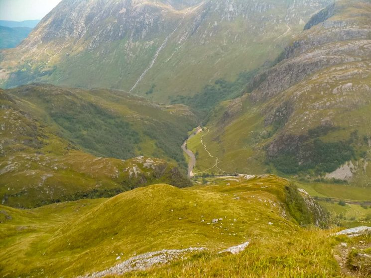 looking down on Glen Nevis