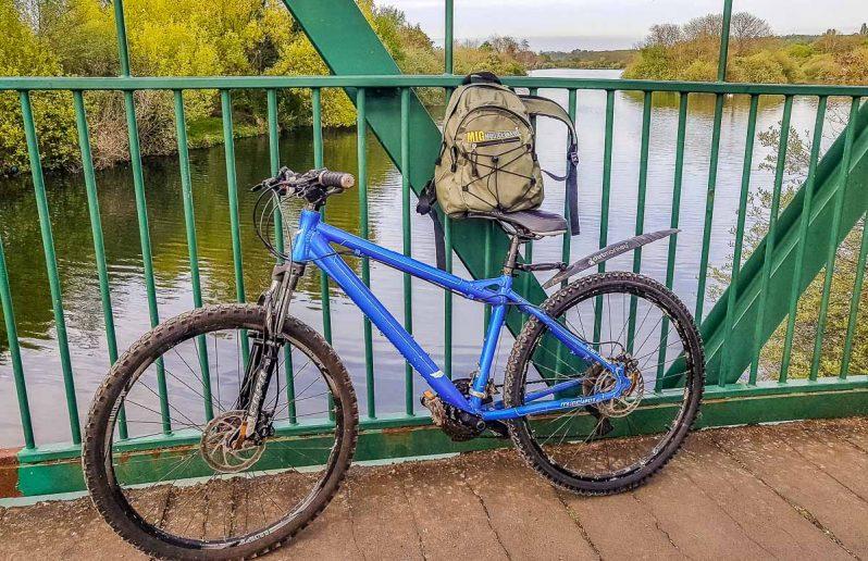bike against railings