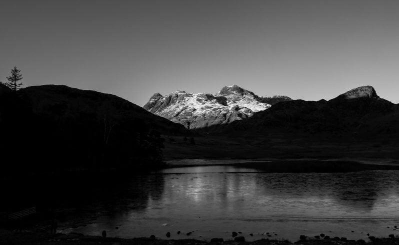 Blea Tarn black and white