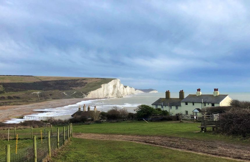 Coastguard cottages and Seven Sisters