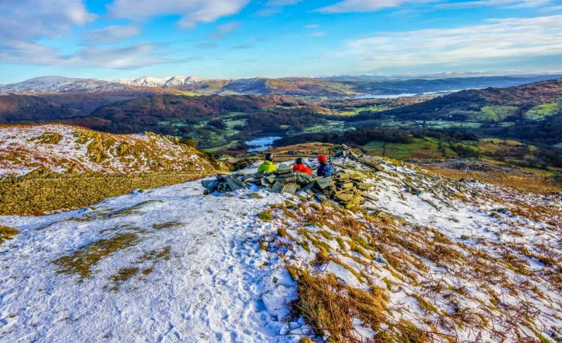 Elterwater and Windermere from Linmoor Fell_