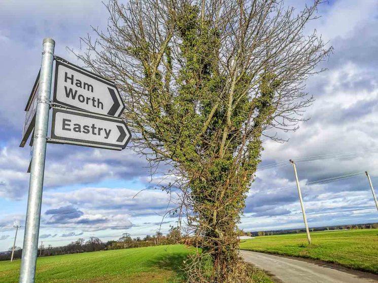 Ham road sign