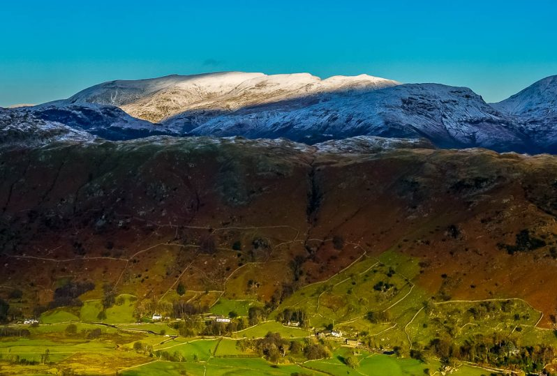 Helvellyn and the Langdale Valley
