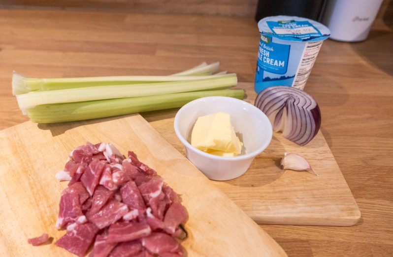 ingredients cream of celery soup with bacon