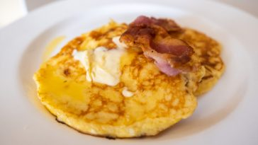 keto pancakes wit coconut flour and cottage cheese