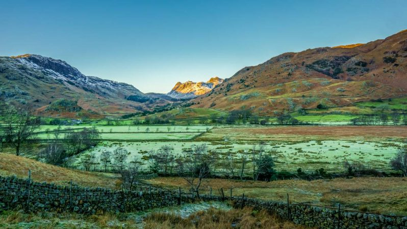 Little Langdale and Langdale Pikes