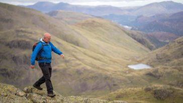 hiking on Scafell Pike