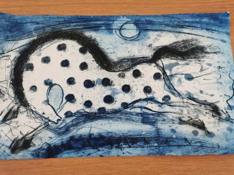 blue horse art