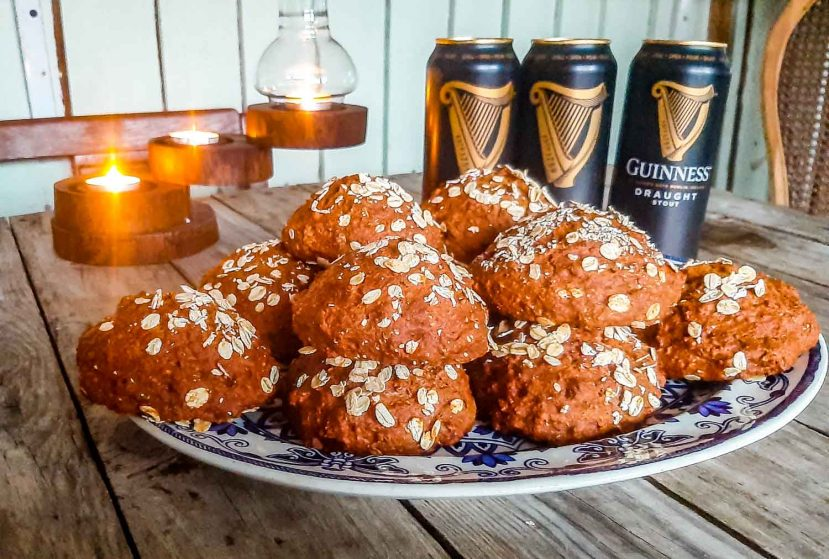 Irish oaten rolls with Guinness for st Patrick's day