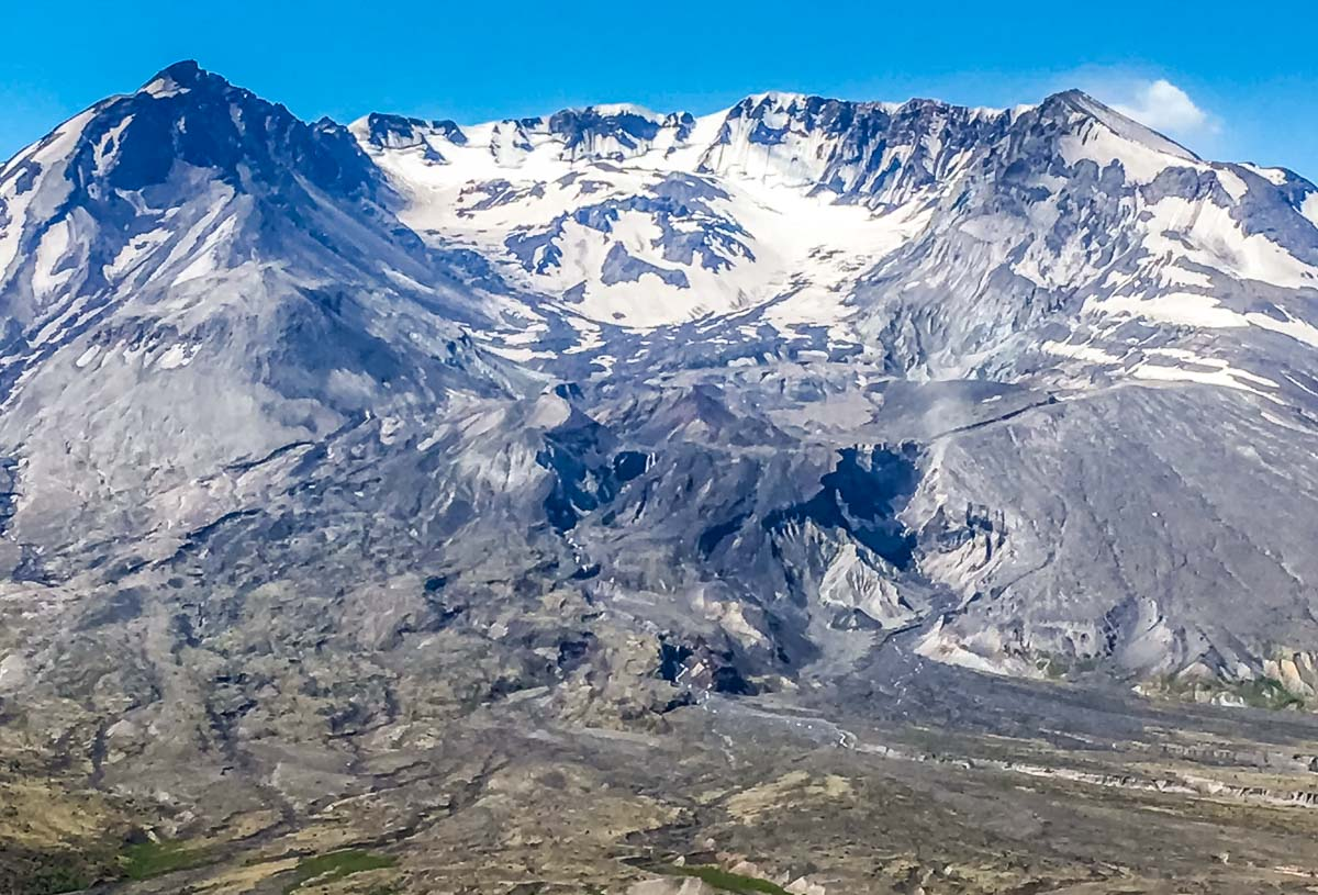 Mount St Helens crater 2018