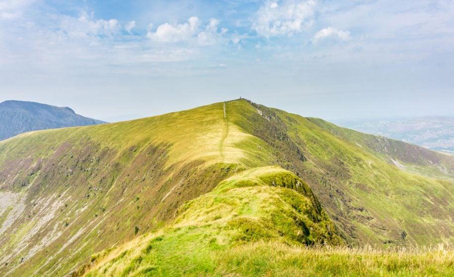 Nantlle ridge - the view to Mynydd Tal-y-mignedd