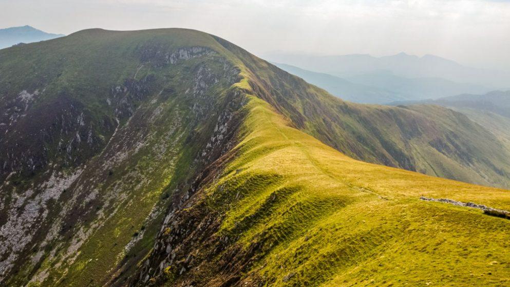 The Nantlle ridge - the arete to Trum y Ddysgl