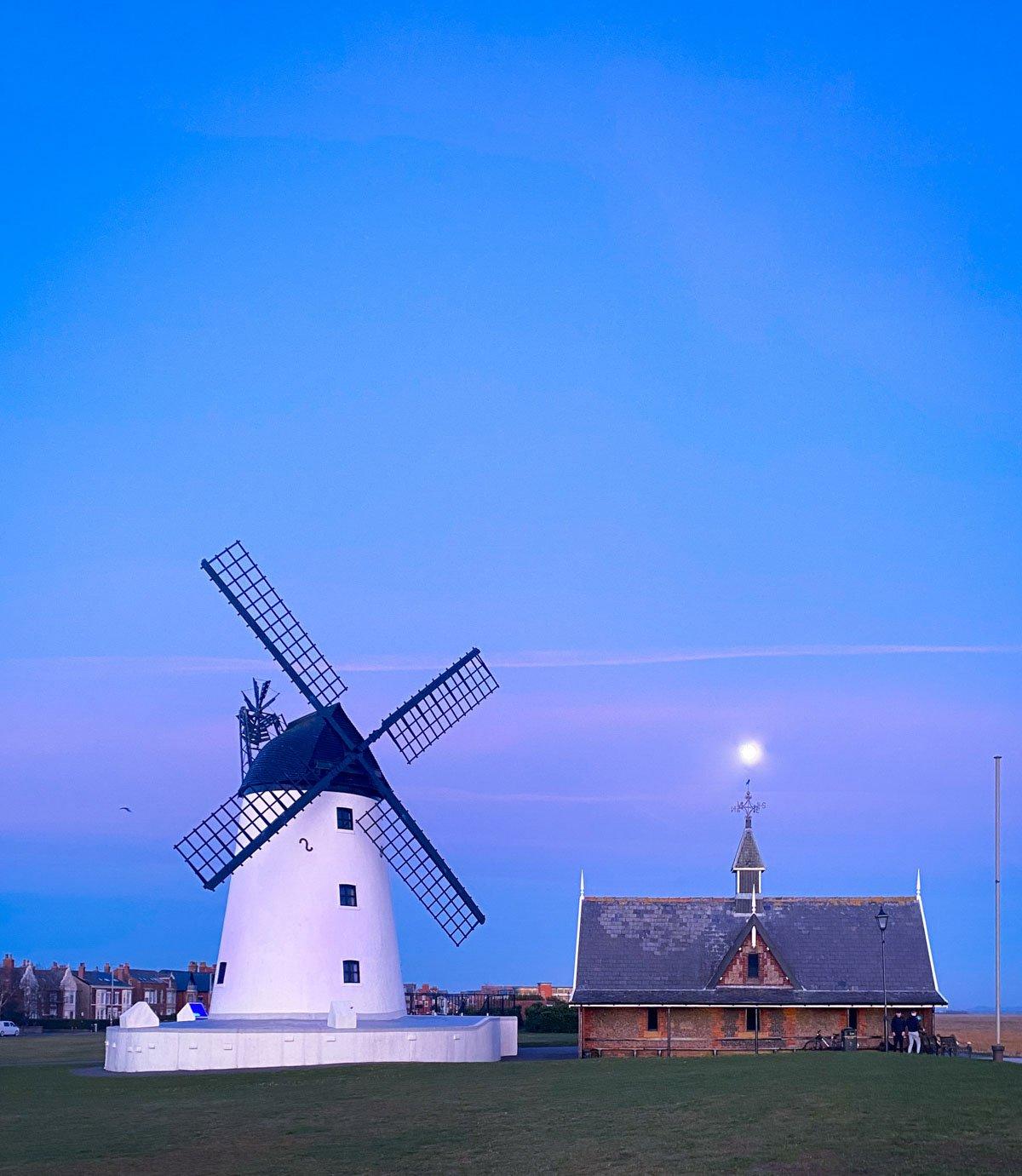 blue hour lytham windmill
