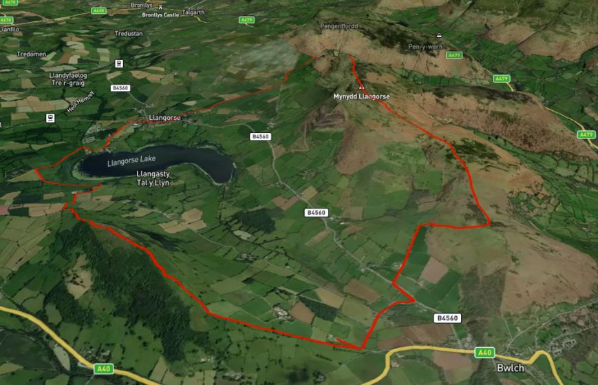 bwlch walk map