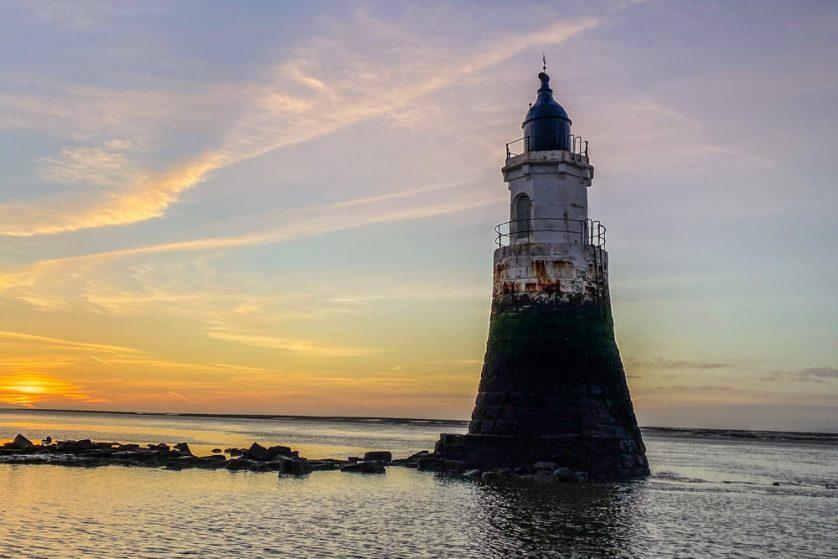 dusk at abbey lighthouse