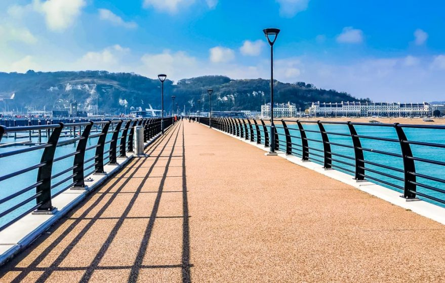 looking down dover pier