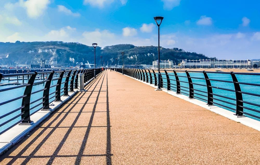 looking down dover pier