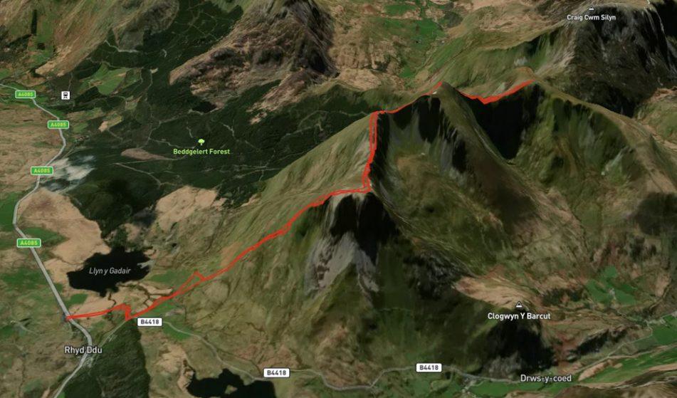 nantlle ridge map
