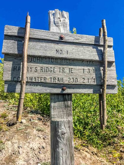 repaired trail sign