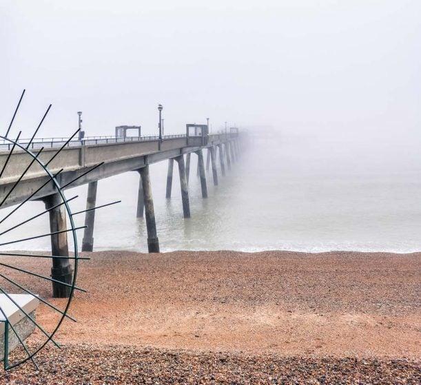 Deal Pier in the fog