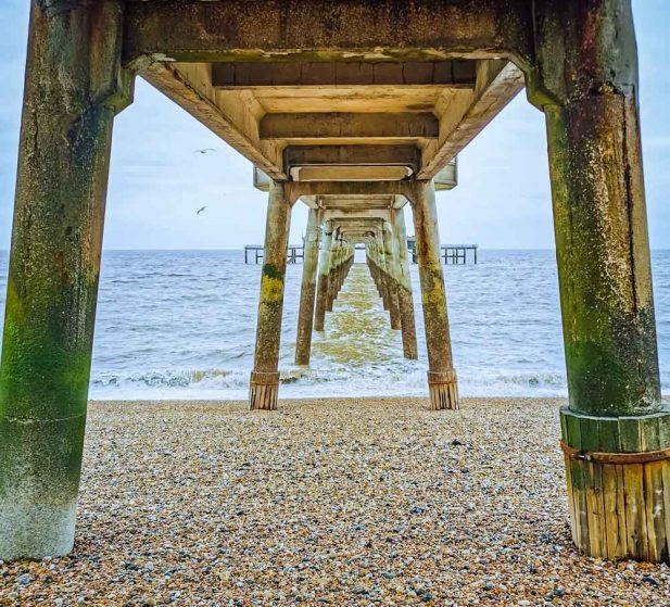 Deal Pier structure underneath